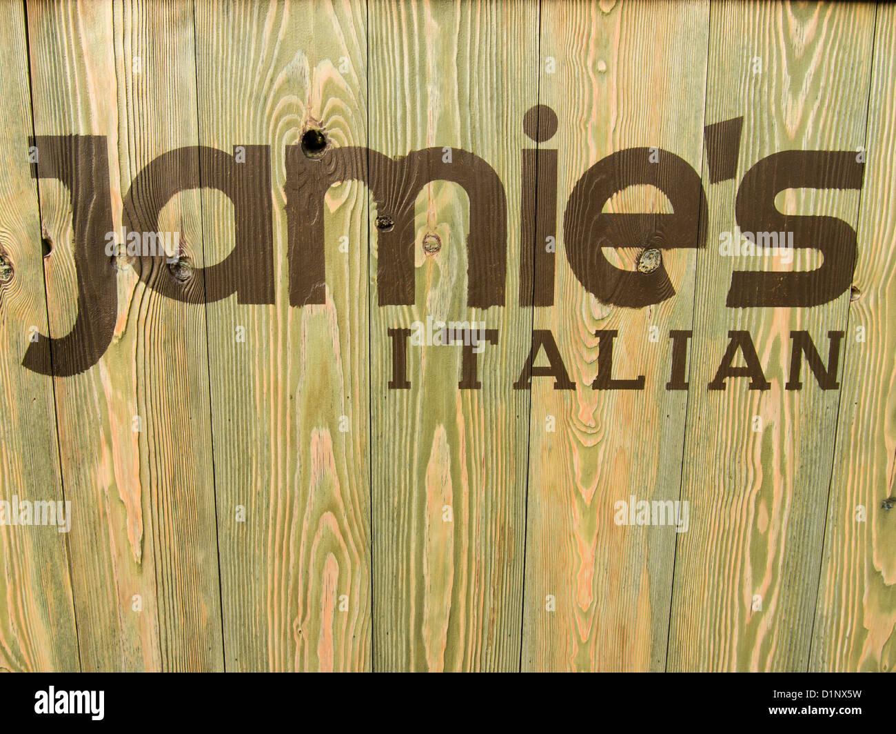 The Logo For The Jamies Italian Chain Restaurants Stenciled Onto