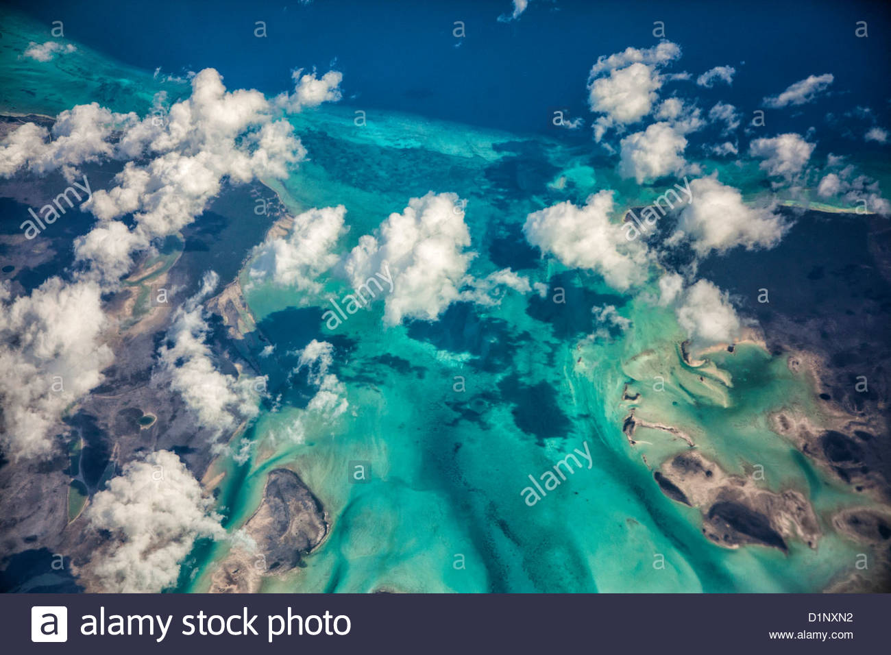 Airline Flight to Curacao - Stock Image