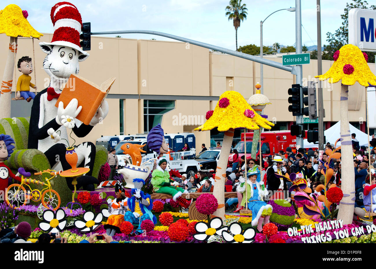 The Kaiser Permanente float 'Oh, The Healthy Things You Can Do,' winner of the Theme trophy for the best - Stock Image
