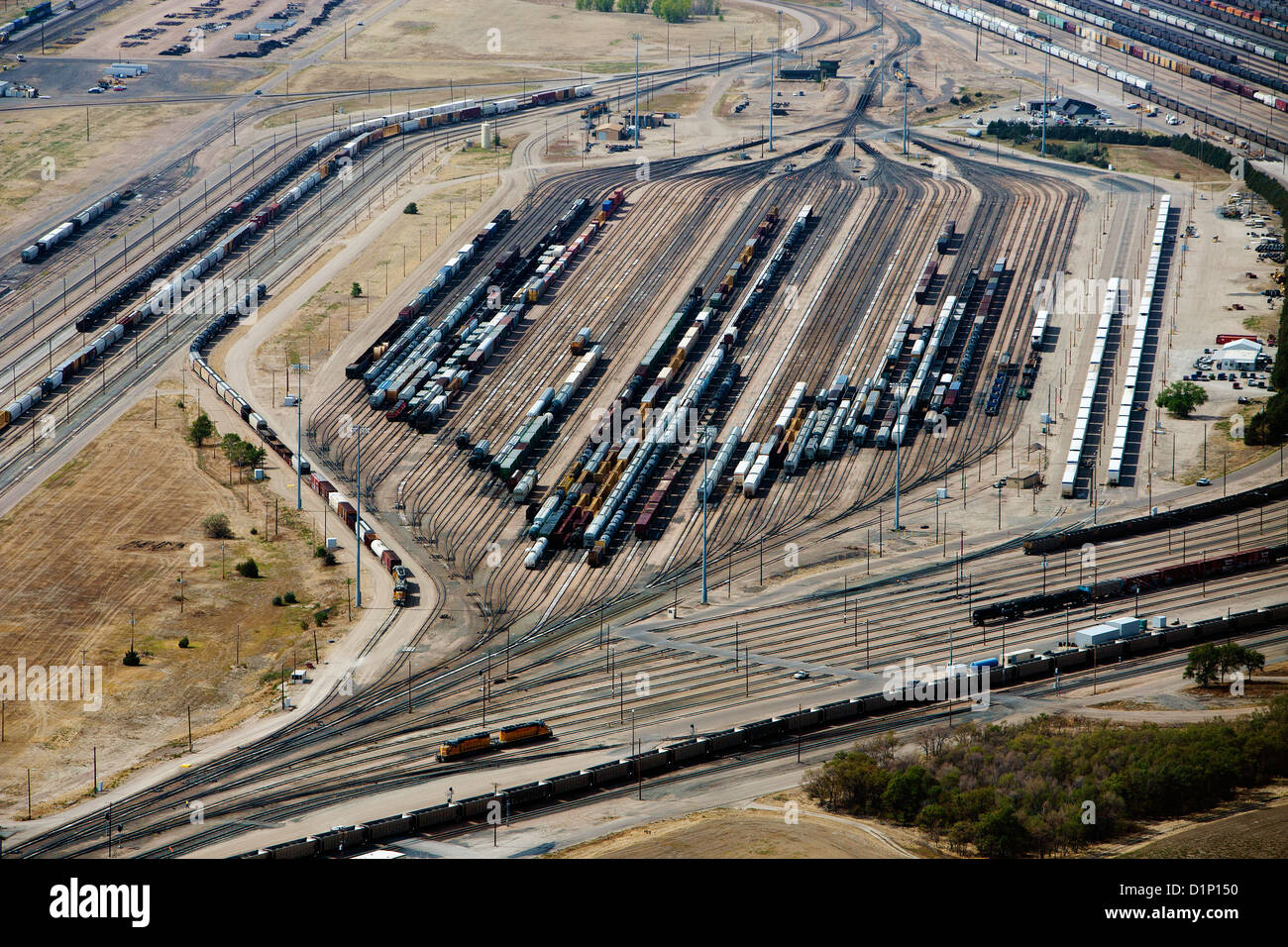aerial photograph Bailey Yard, North Platte, Nebraska - Stock Image