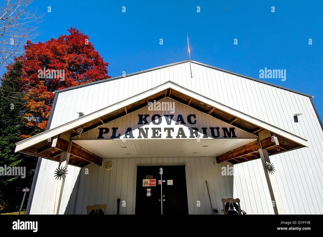 Kovac Planetarium Rhinelander Wisconsin WI - Stock Image