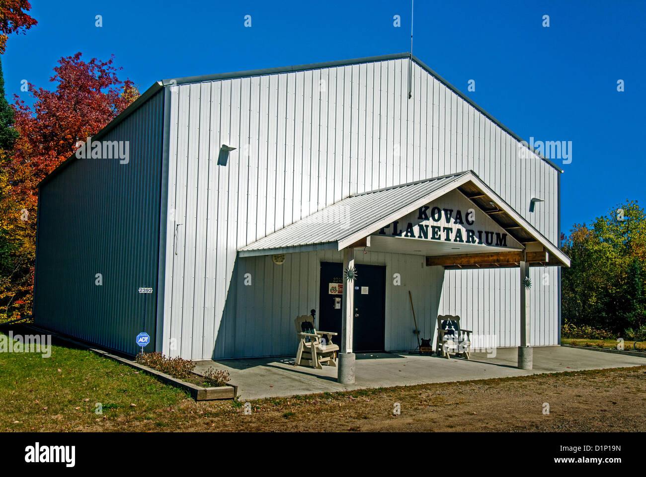 Kovac Planetarium in the Northwoods town of Rhinelander, Wisconsin - Stock Image