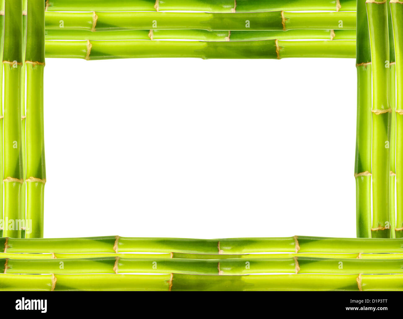 Bamboo frame made of stems - Stock Image