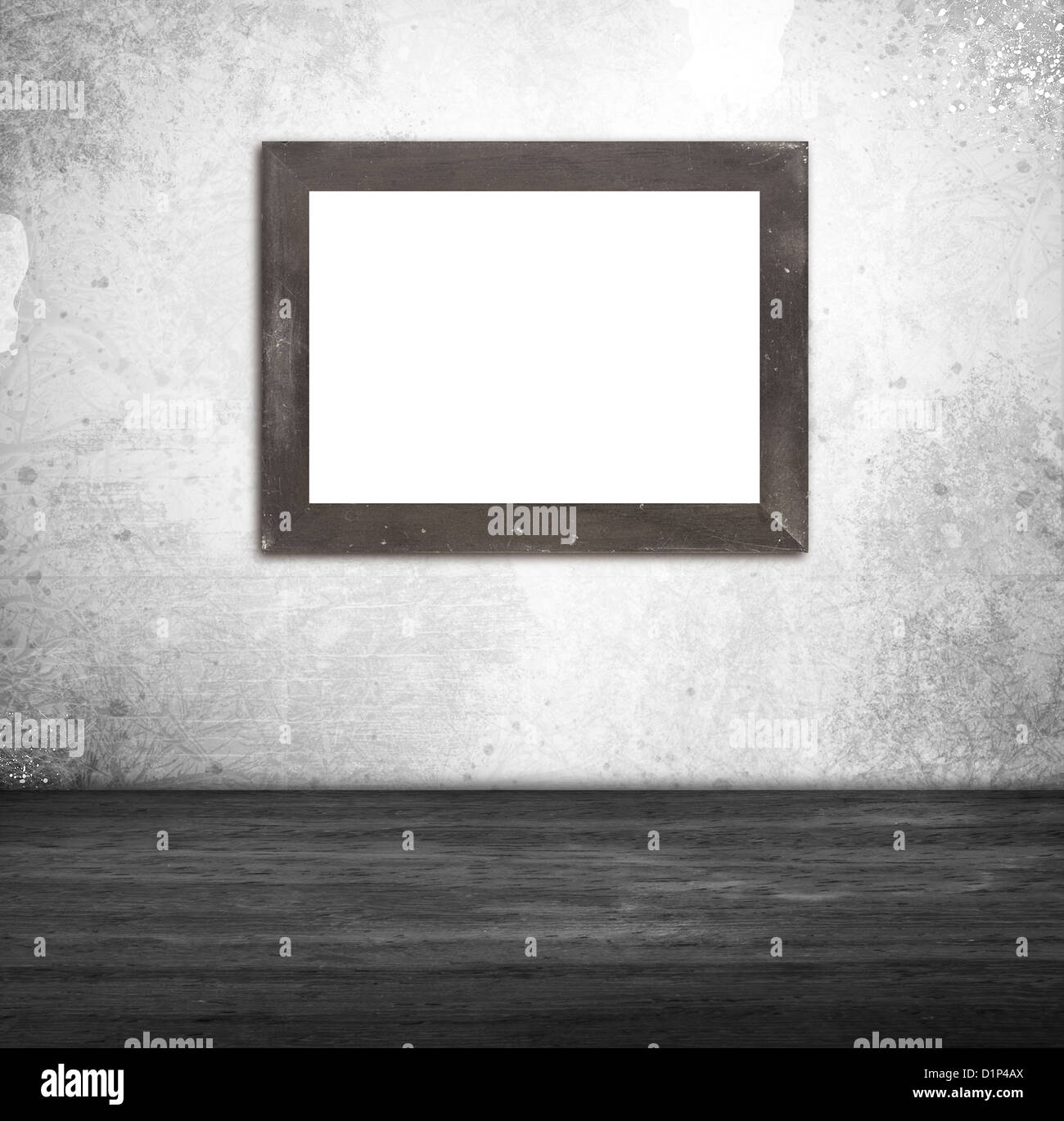 Interior picture frames on wall - Stock Image