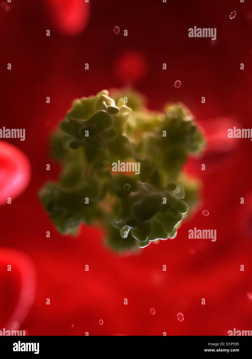 HPV infection, artwork - Stock Image
