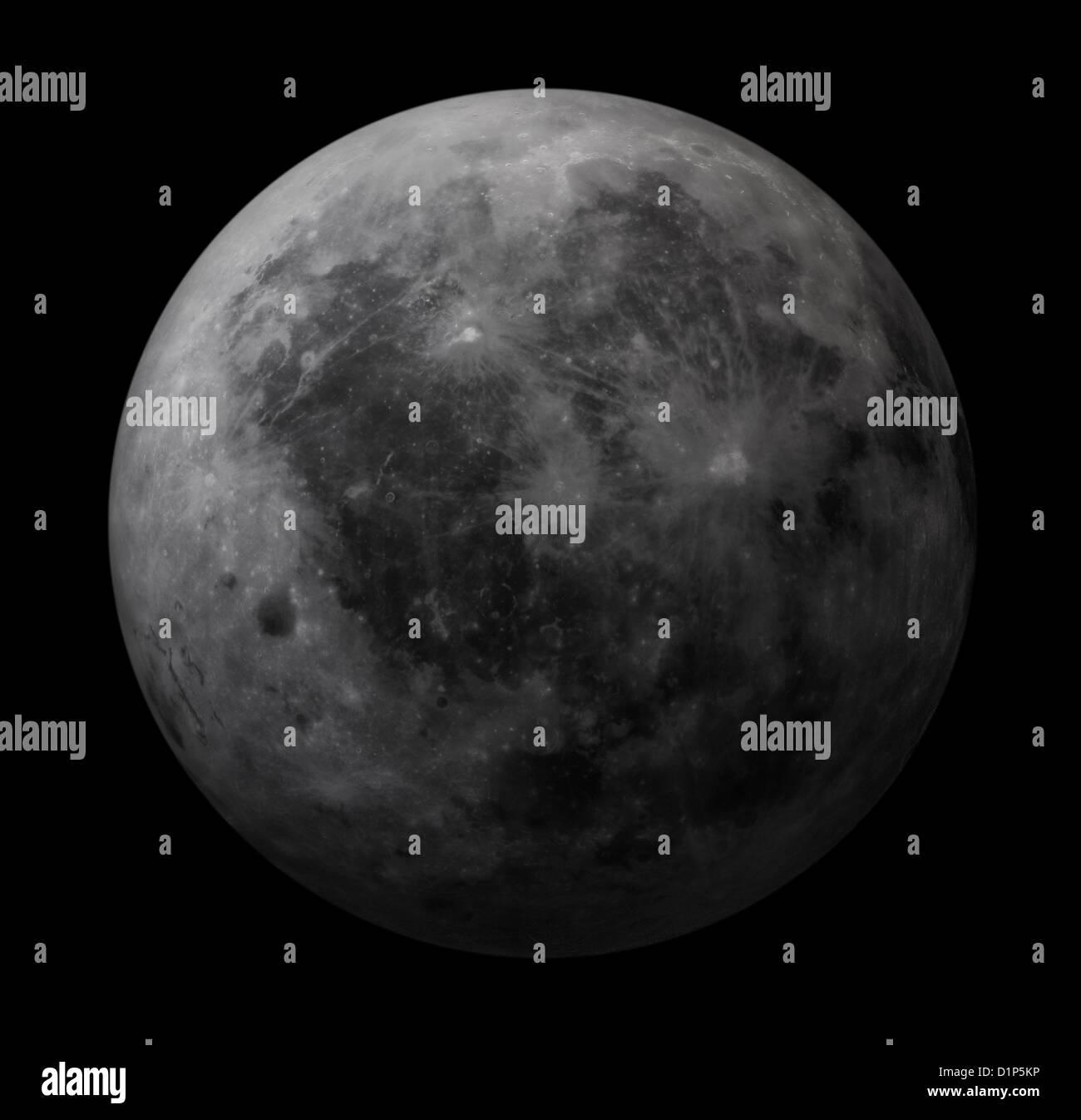 Dark side of the Moon, artwork - Stock Image