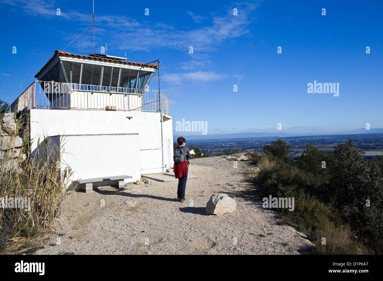 Watch tower - Stock Image