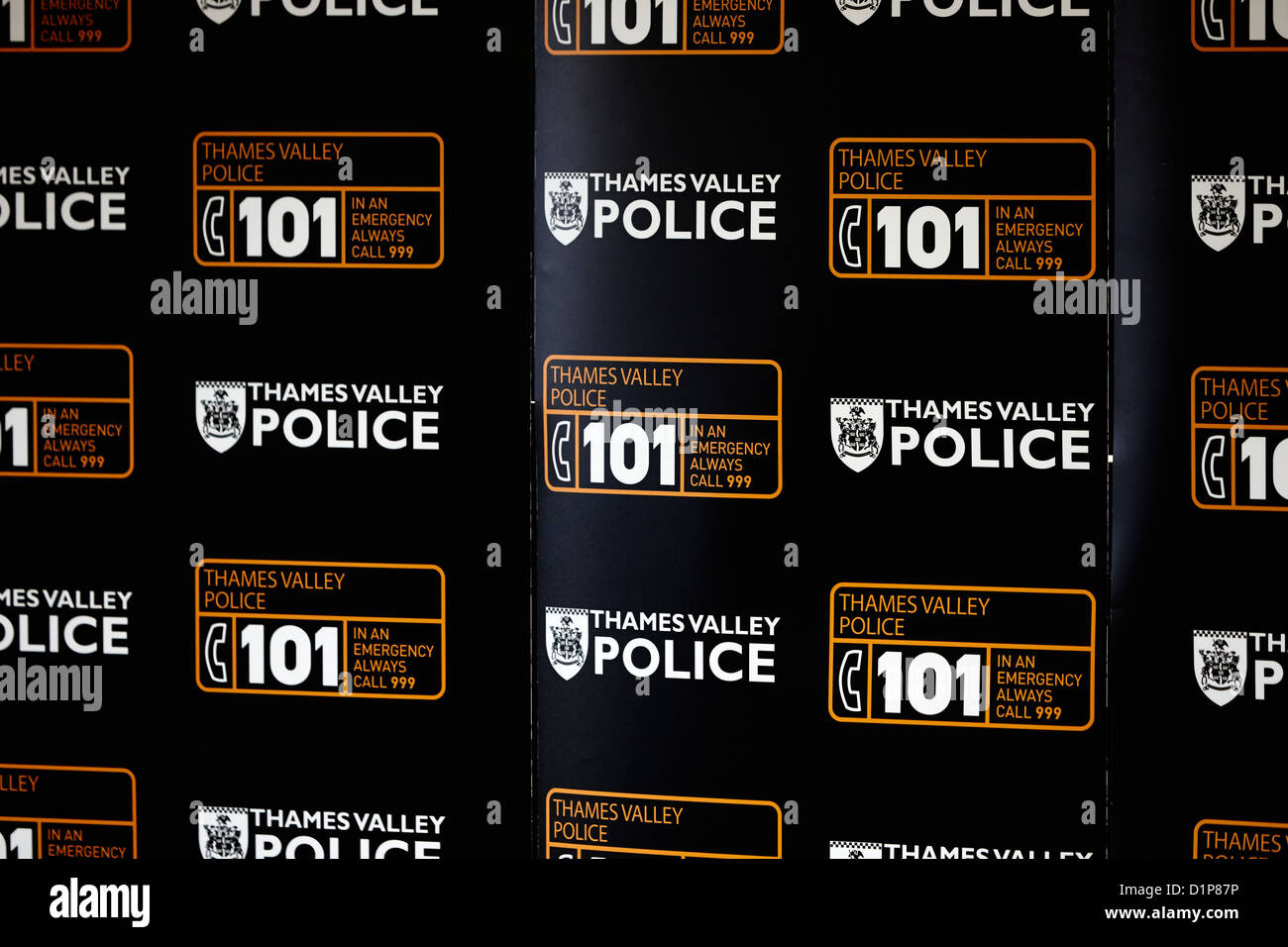 Thames Valley Police 101 logos - Stock Image