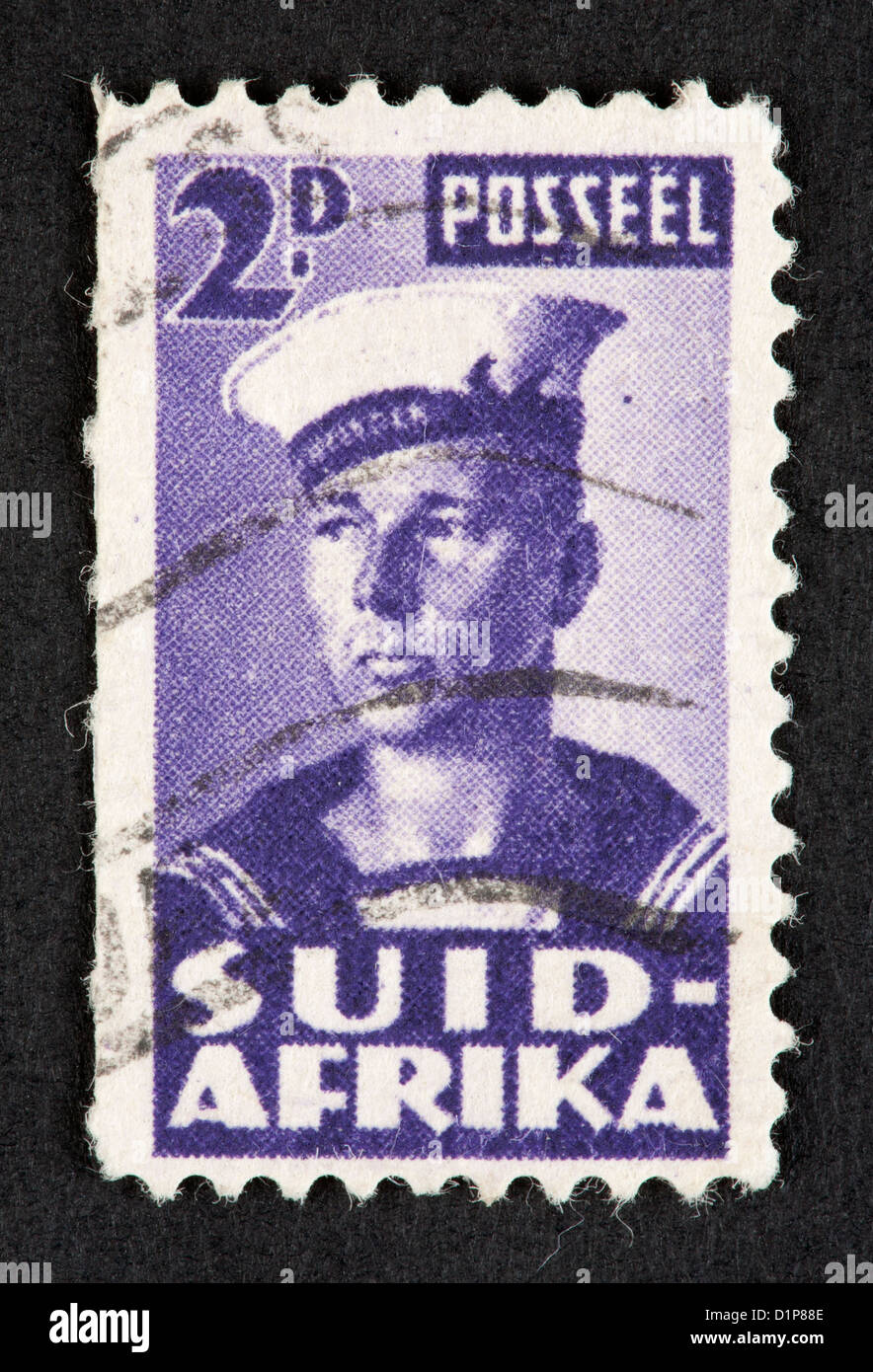 South African postage stamp - Stock Image