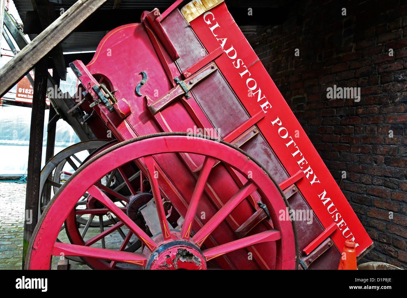 Old Cart  Gladstone Pottery Museum Longton Stoke-on-Trent - Stock Image