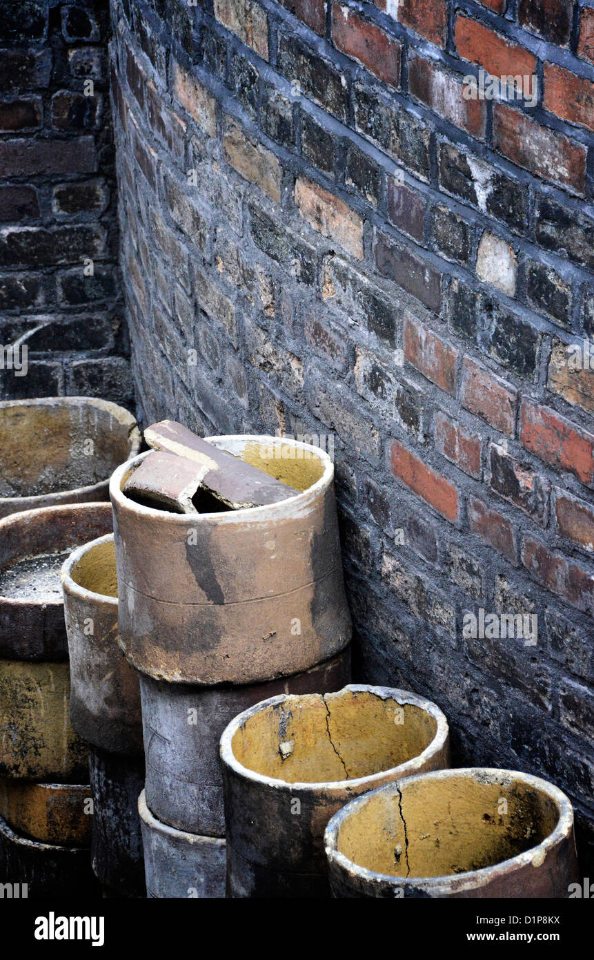 Saggers at the Gladstone Pottery Museum, Longton, Stoke-on-Trent - Stock Image