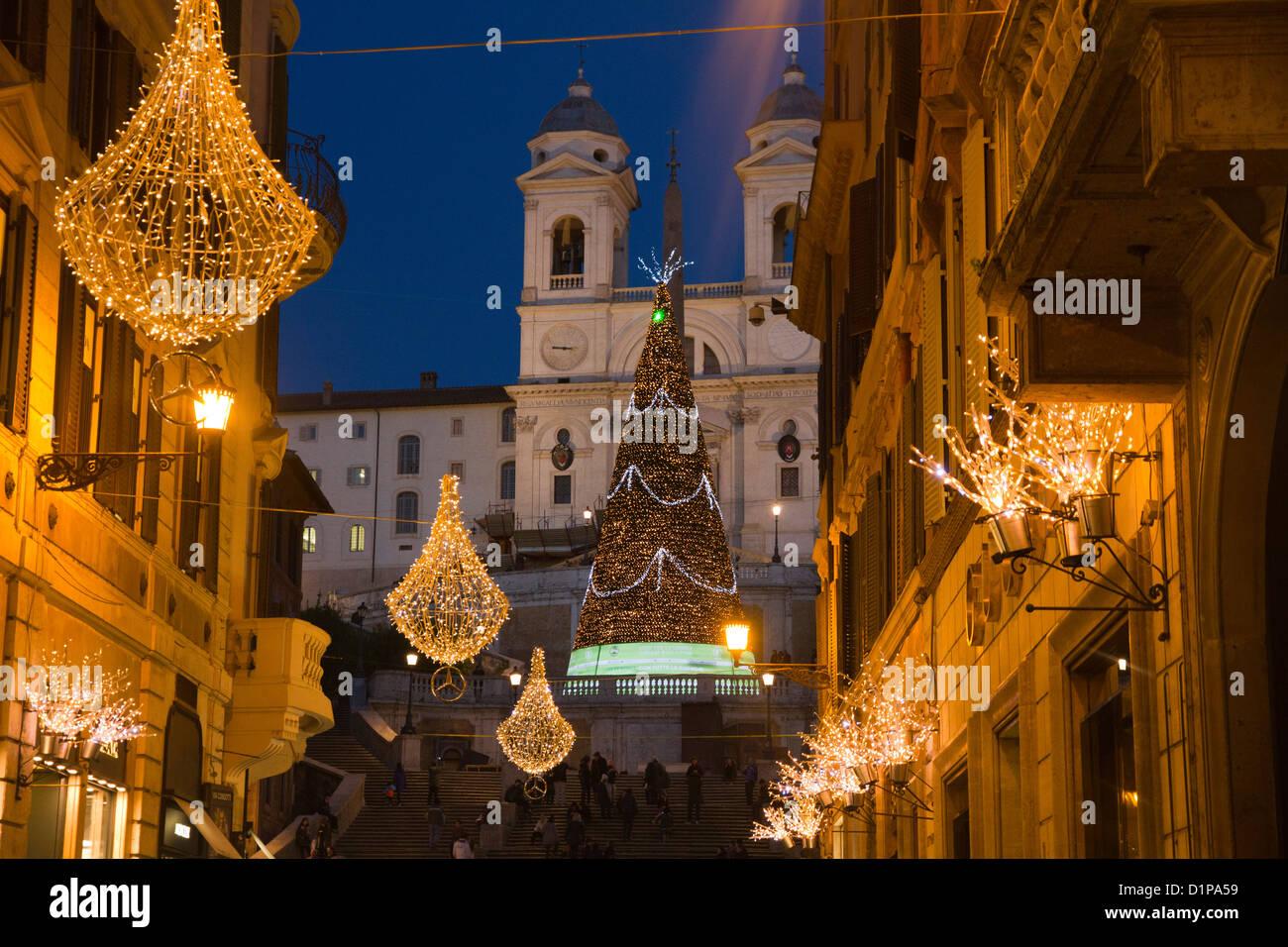 Christmas In Italy Decorations.Via Condotti Rome Italy Christmas Decorations Lights Street