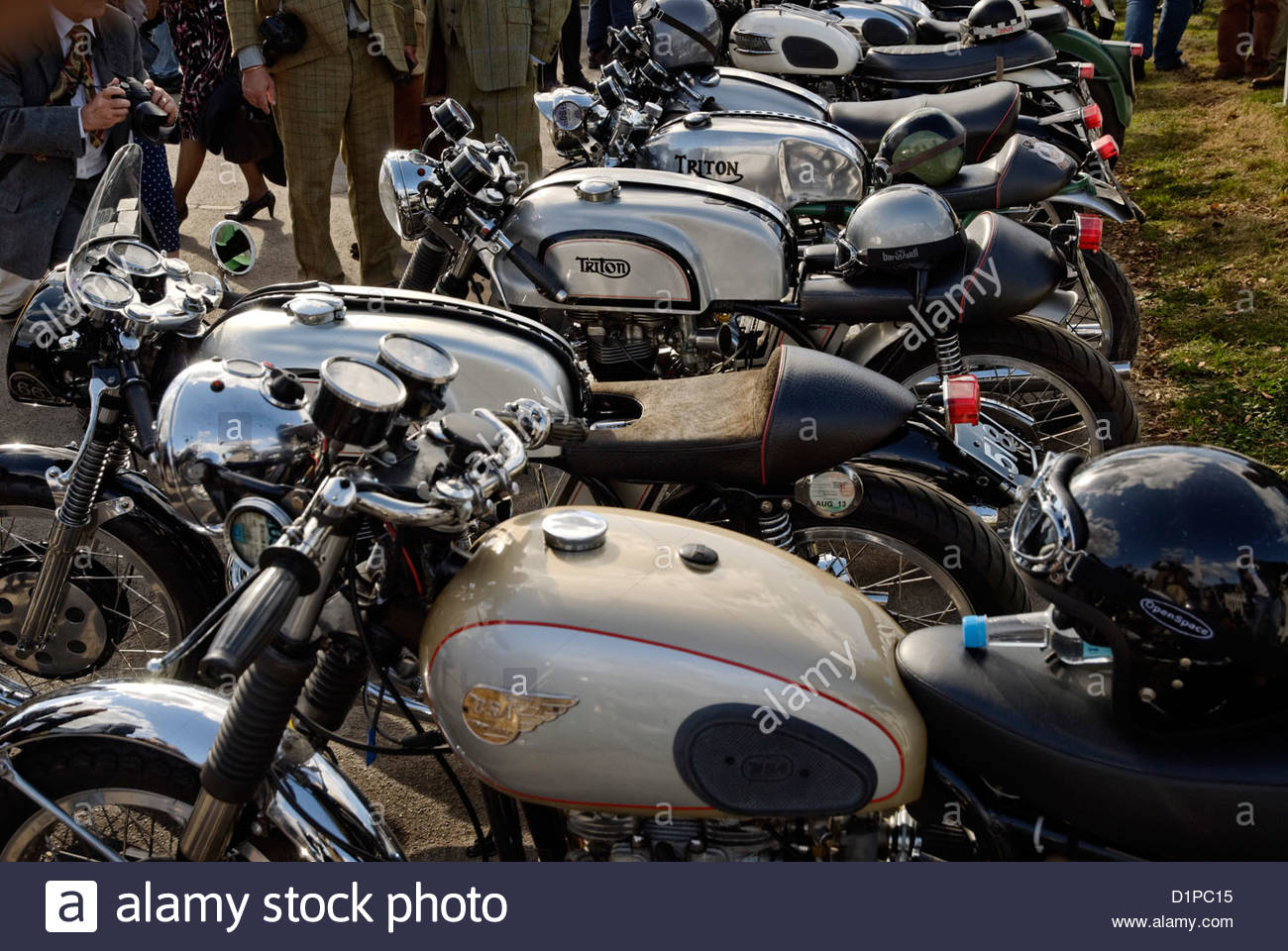 Triton Cafe Racer at the Goodwood Revival Meeting 2012 - Stock Image