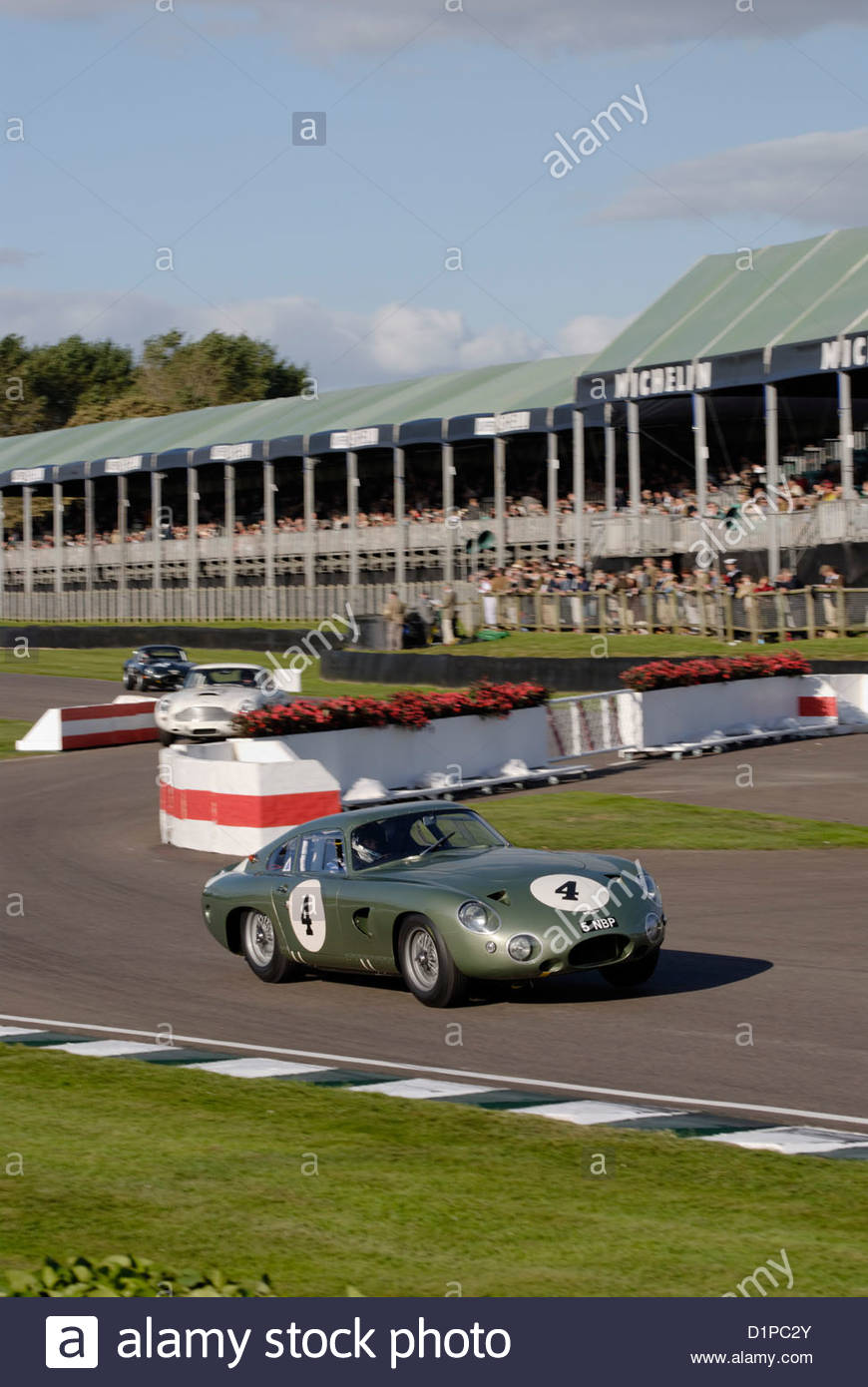Aston Martin DB4 GT at the Goodwood Revival Meeting 2012 in the RAC TT Celebration race - Stock Image