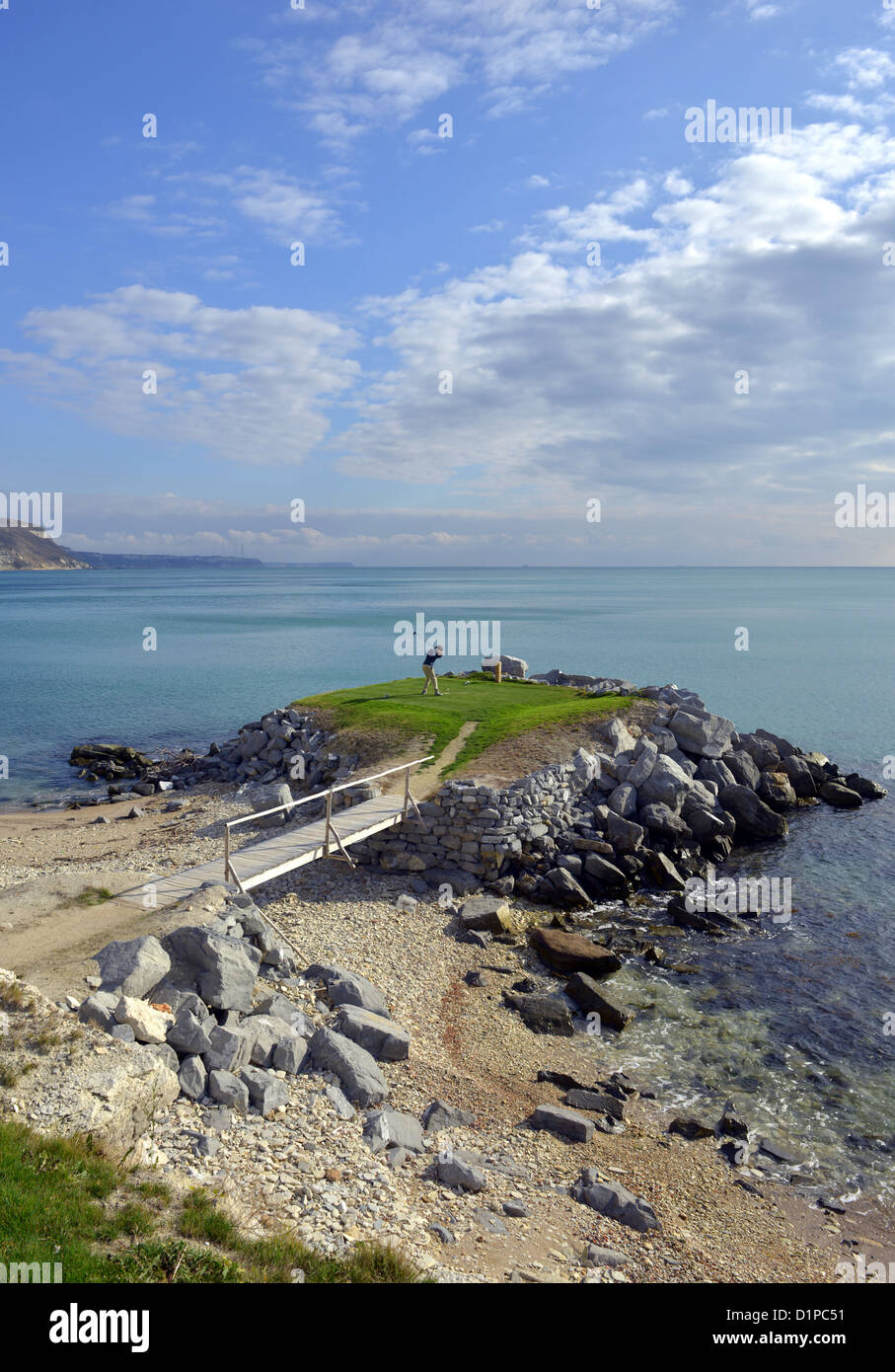 Thracian Cliffs Golf Course, Kavarna, Bulgaria - Stock Image