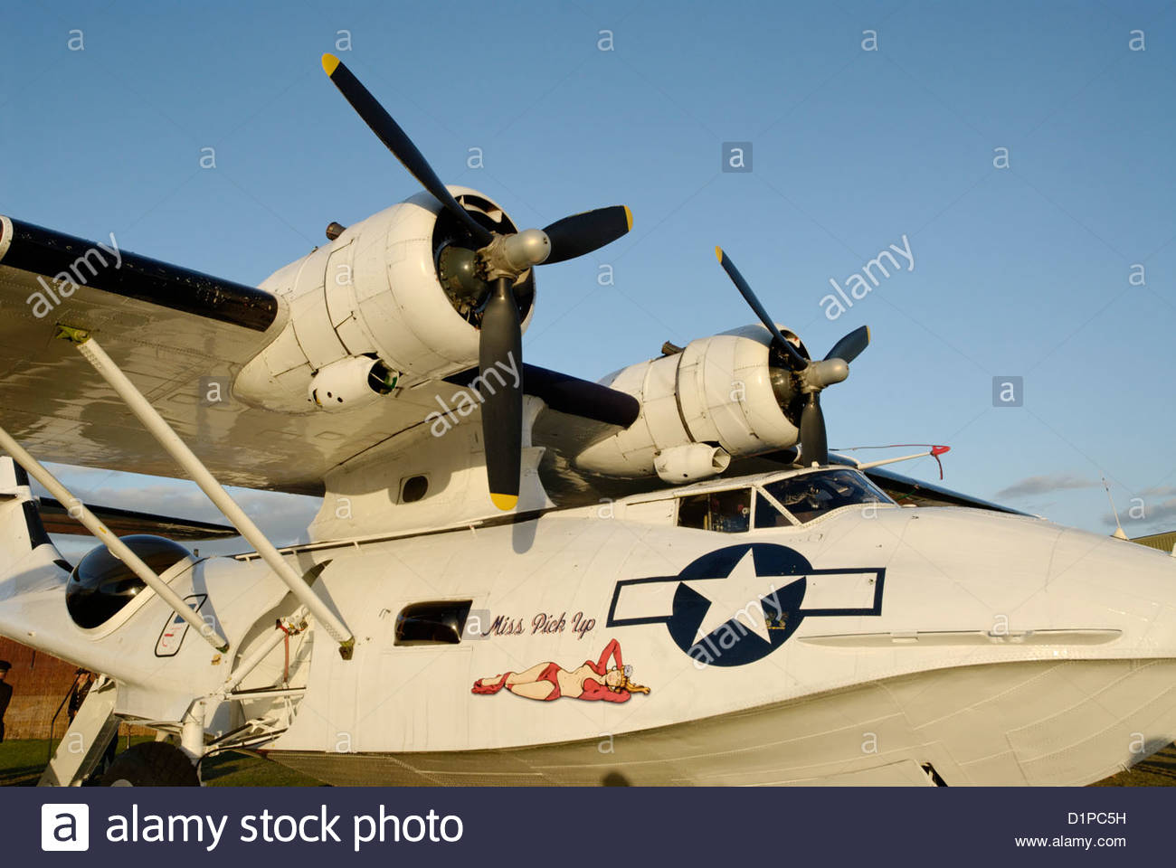 1943 Consolidated PBY-5A Catalina flying boat at the Goodwood Revival Meeting 2012 - Stock Image