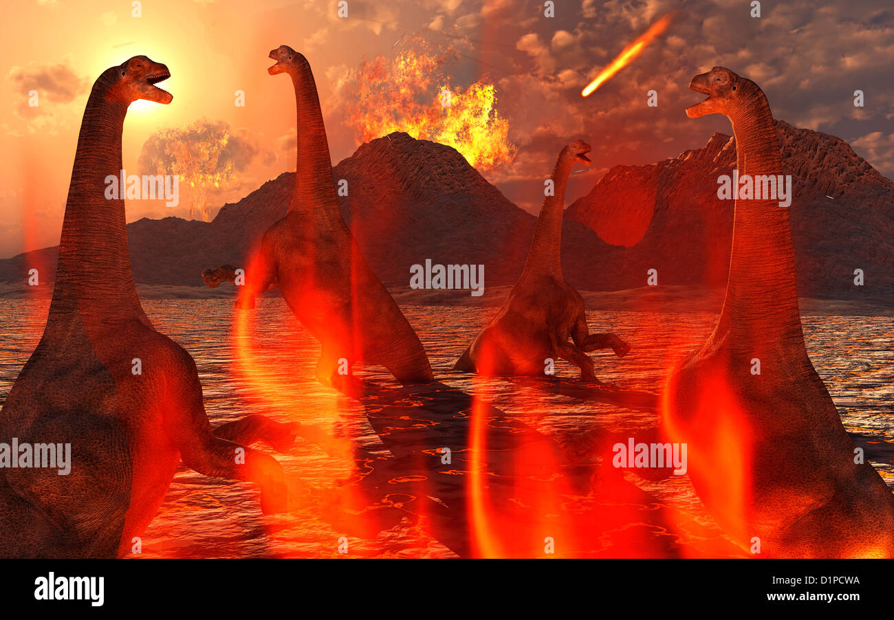 Last Days Of The Dinosaurs.2. - Stock Image