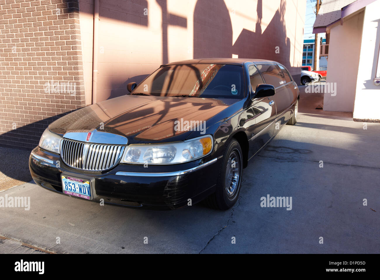 private limousine parked in Las Vegas Nevada USA - Stock Image
