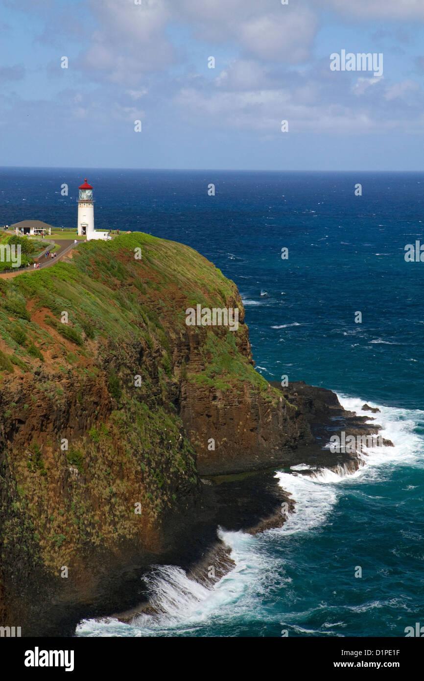 Kilauea Lighthouse located on Kilauea Point on the island of Kauai, Hawaii, USA. - Stock Image