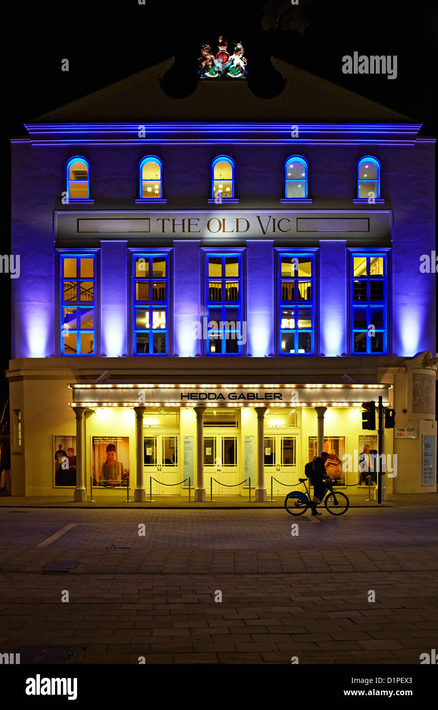 The Old Vic theatre in The Cut, south London - Stock Image