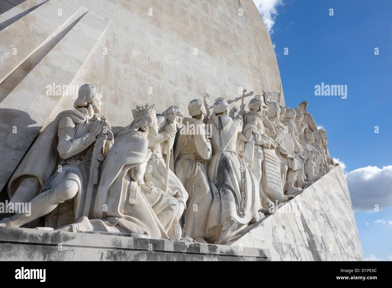 Monument to the Discoveries, Belém, Lisbon, Portugal Padrao dos Descobrimentos - Stock Image