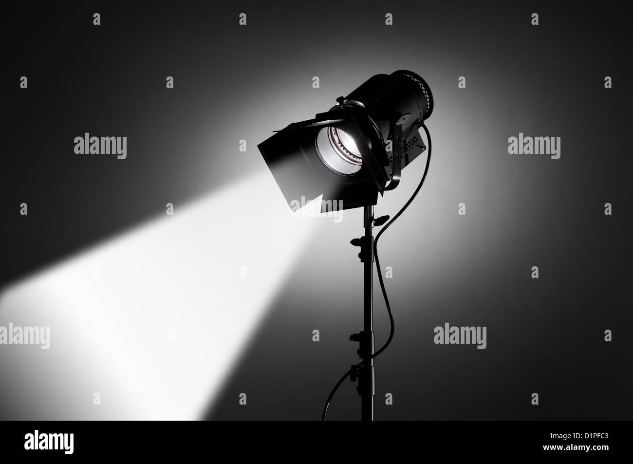 Spotlight aimed in corner - Stock Image
