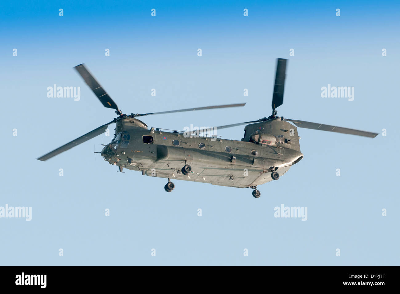 ZA675 (AE) Royal Air Force Chinook Twin Engine Helicopter - Stock Image