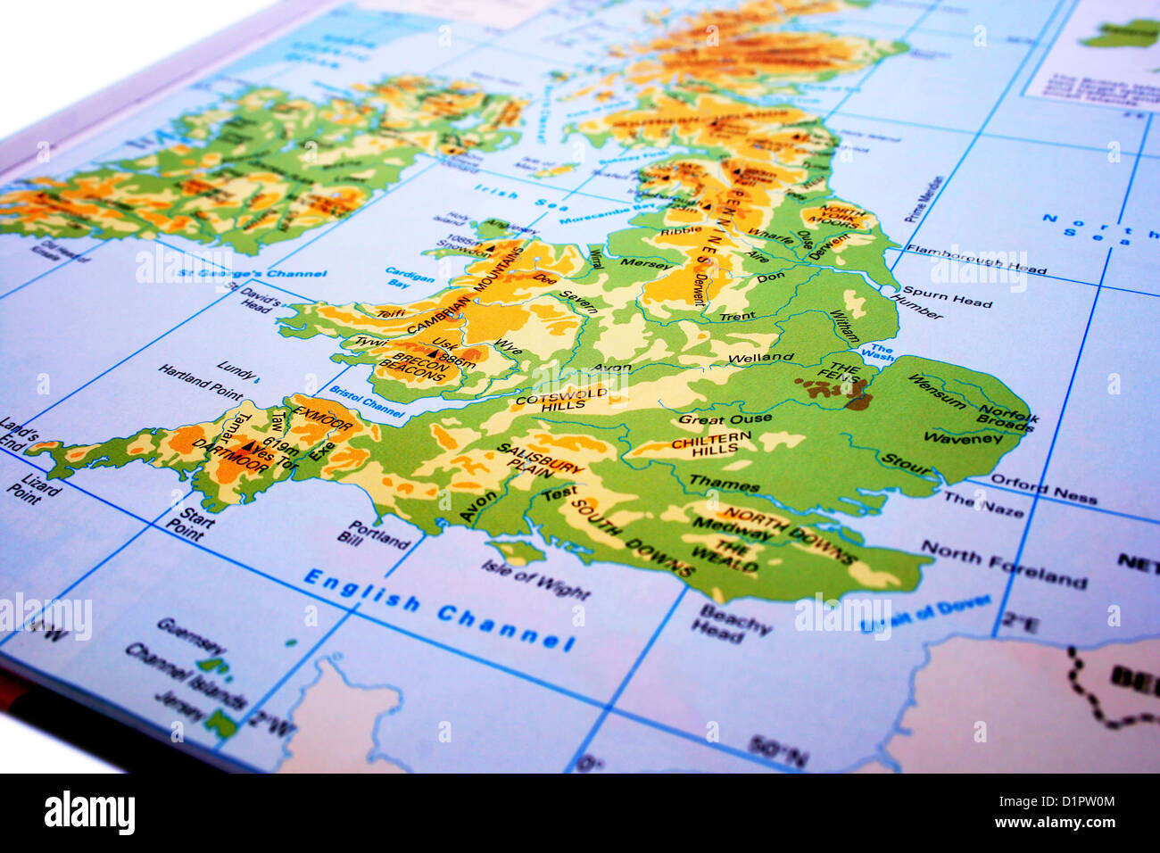 Map Of Uk Mountains And Rivers.United Kingdom Map Mountains Rivers Stock Photo 52748324 Alamy