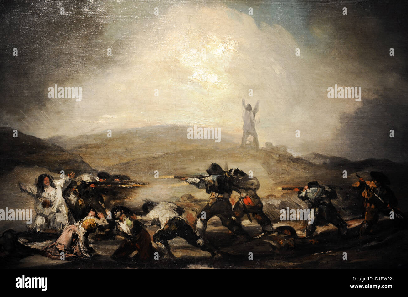Francisco de Goya (1746-1828). Scene from the Spanish War of Independence, after 1808. Museum of Fine Arts. Budapest. - Stock Image
