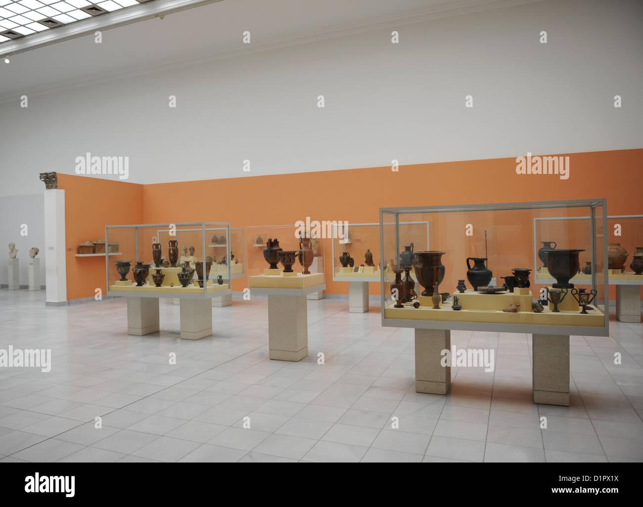 Hungary. Budapest. Museum of Fine Arts. Interior. - Stock Image