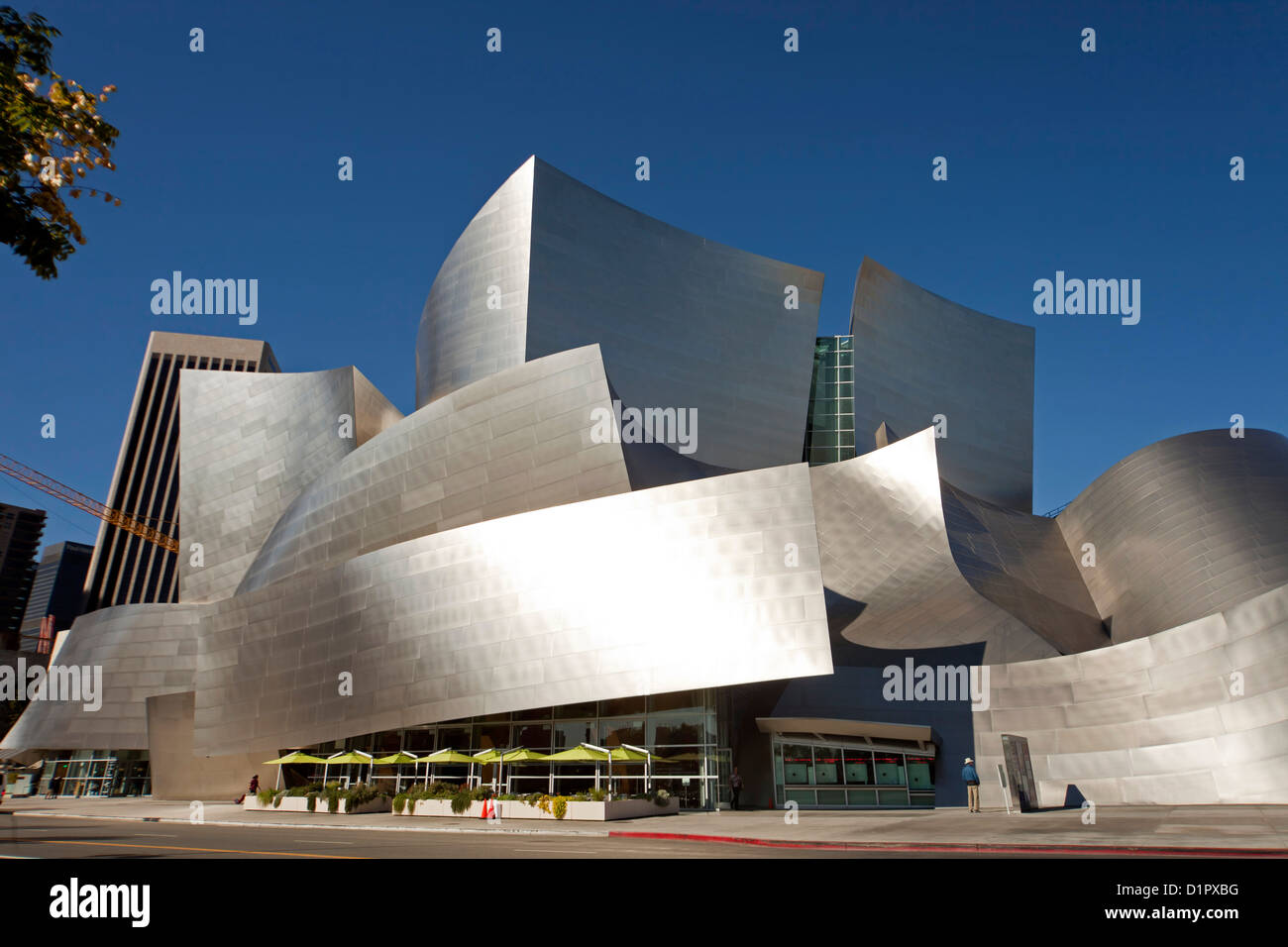 Modern Architecture By Frank Gehry Walt Disney Concert Hall Stock