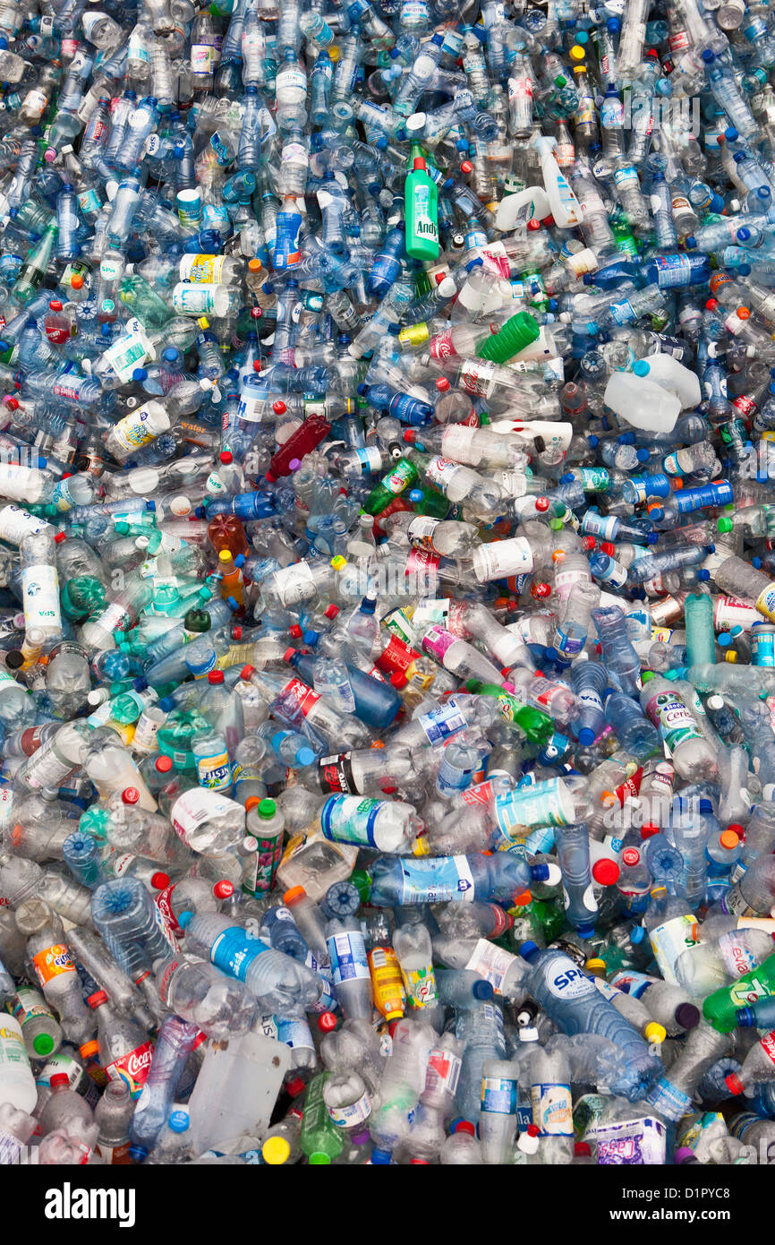 The Netherlands, Amsterdam, Plastic drinking bottles. Waste. - Stock Image