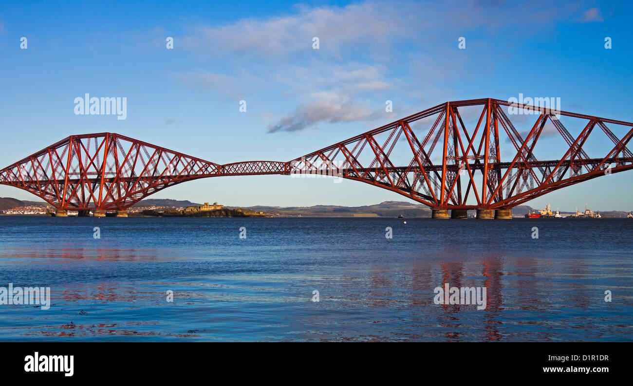 Forth Rail Bridge, South Queensferry, Edinburgh, Scotland, UK,Europe Stock Photo