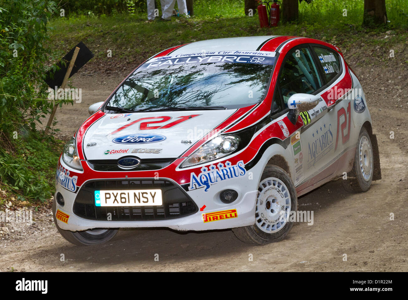 valor Capilla No autorizado  2011 Ford Fiesta R2 with driver Jussi Kumpumaki on the rally stage at Stock  Photo - Alamy