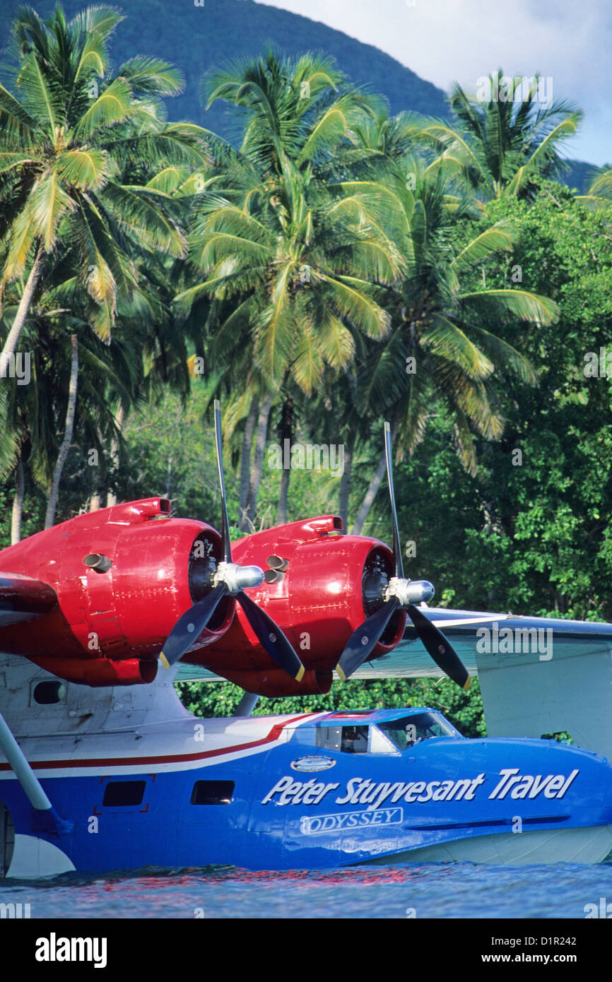 Colombia, St Andres, Catalina PBY-5A hydroplane. - Stock Image