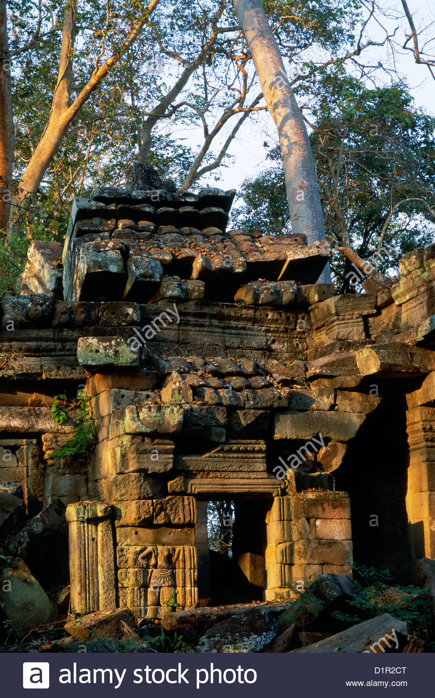 CAMBODIA Khmer culture, Banteay Chhmar built by Buddhist King Jayavarman VII (late 12th- early 13th c.)90 miles - Stock Image