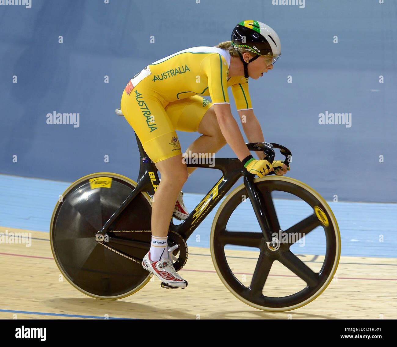 Annette Edmondson (AUS, Australia). Track Cycling - Stock Image