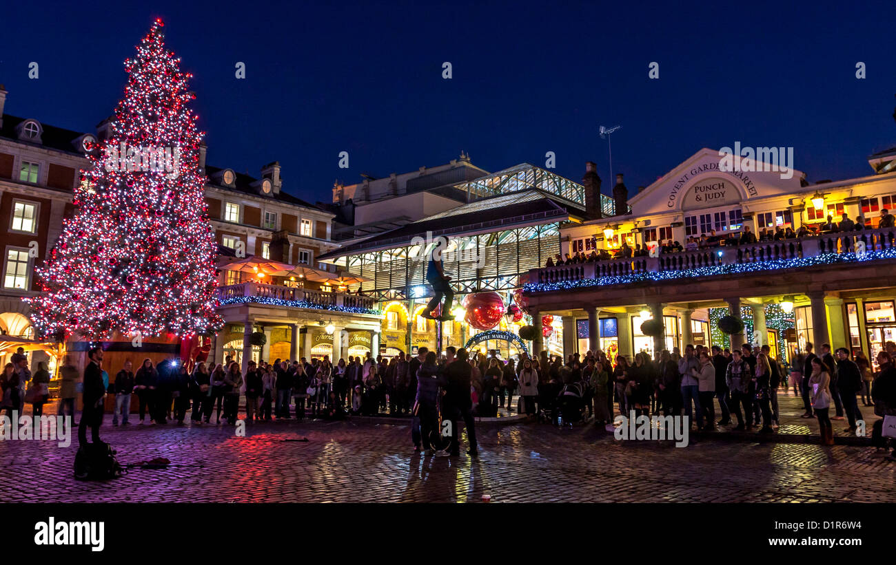 London: Christmas Decoration Of Covent Garden In London