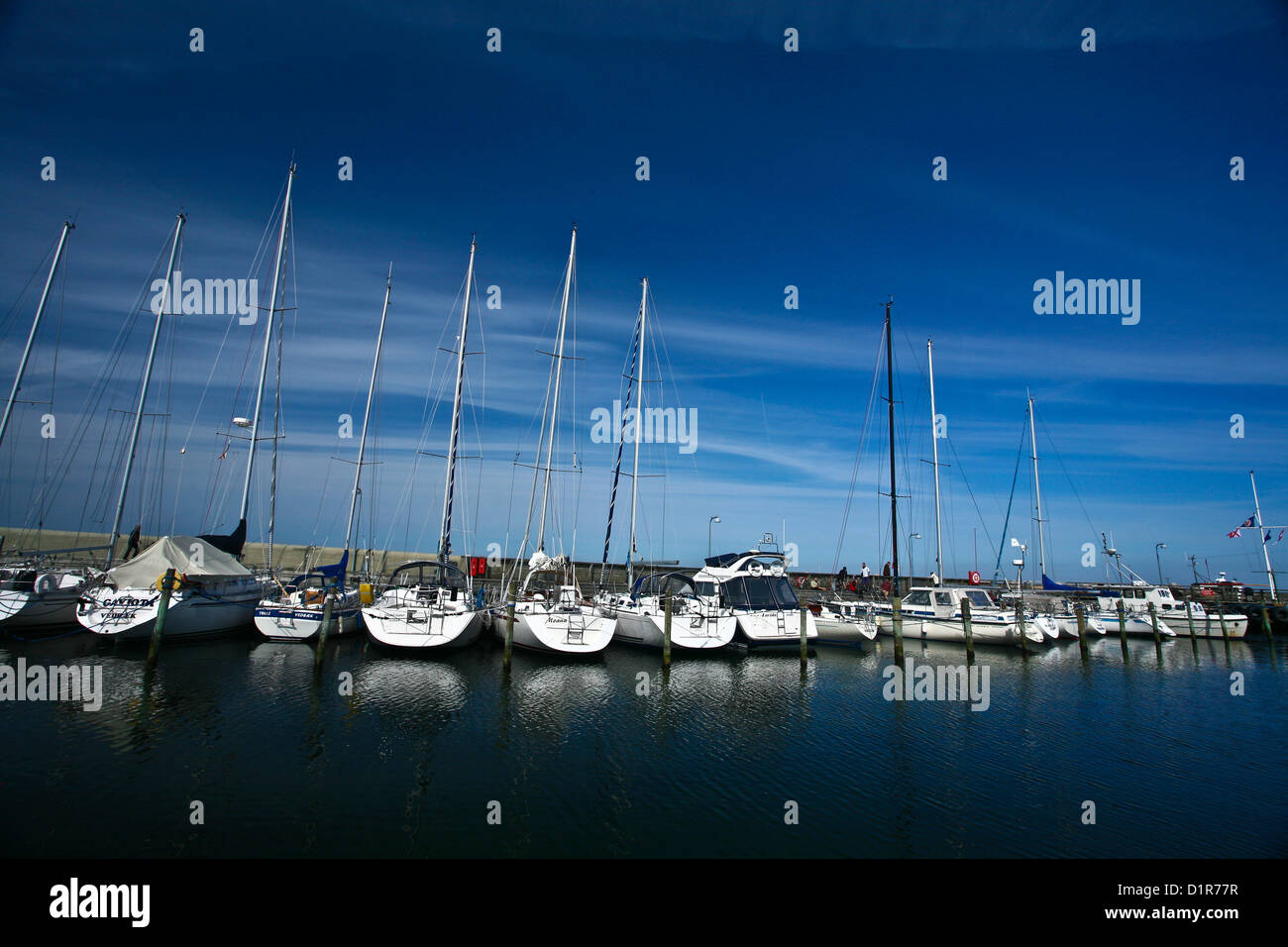 Vedbæk have, the harbor of the town situated north from copenhagen - Stock Image