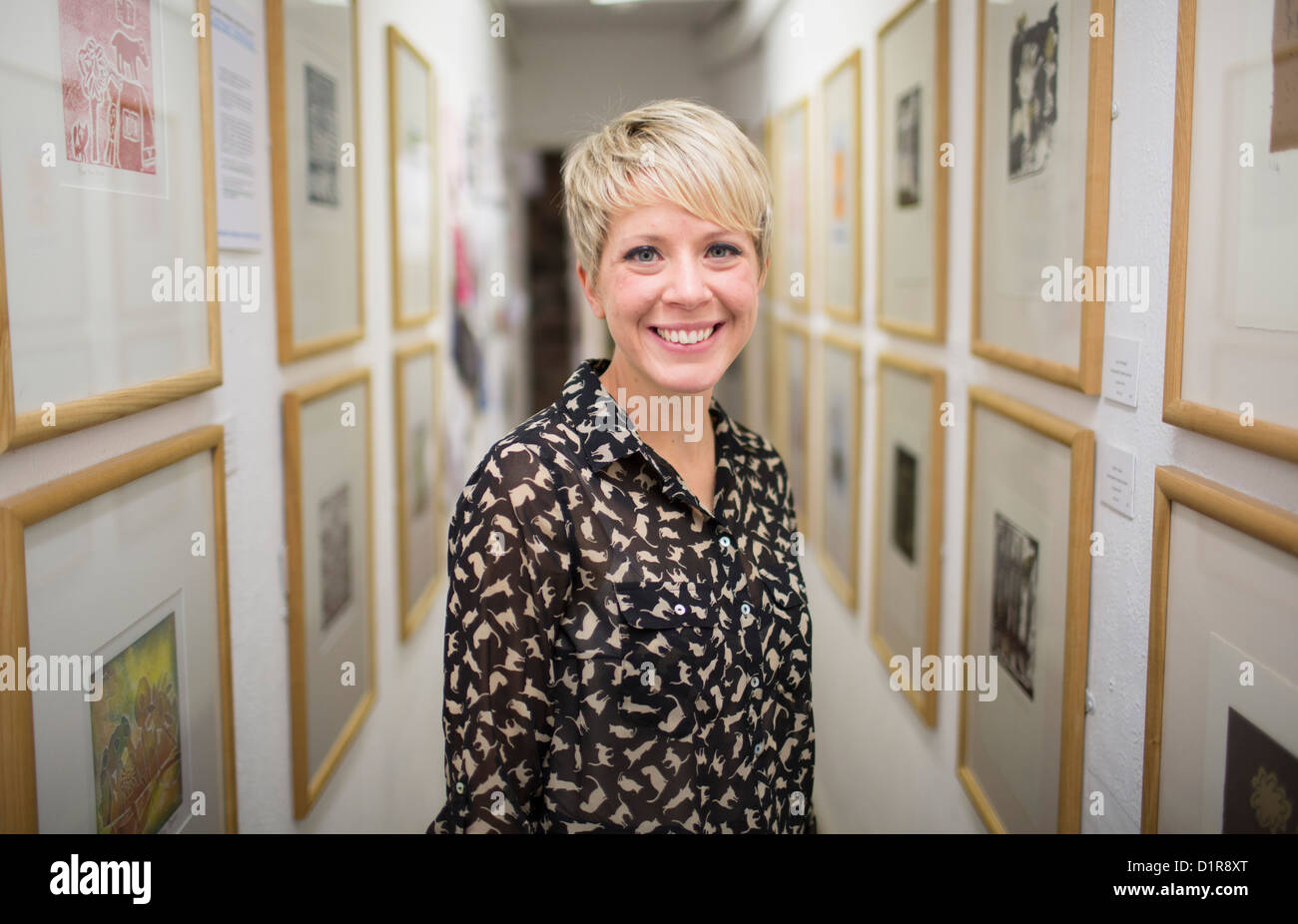 Dylan Thomas Prize 2012 finalist Andrea Eames, author of  'The White Shadow'. Stock Photo