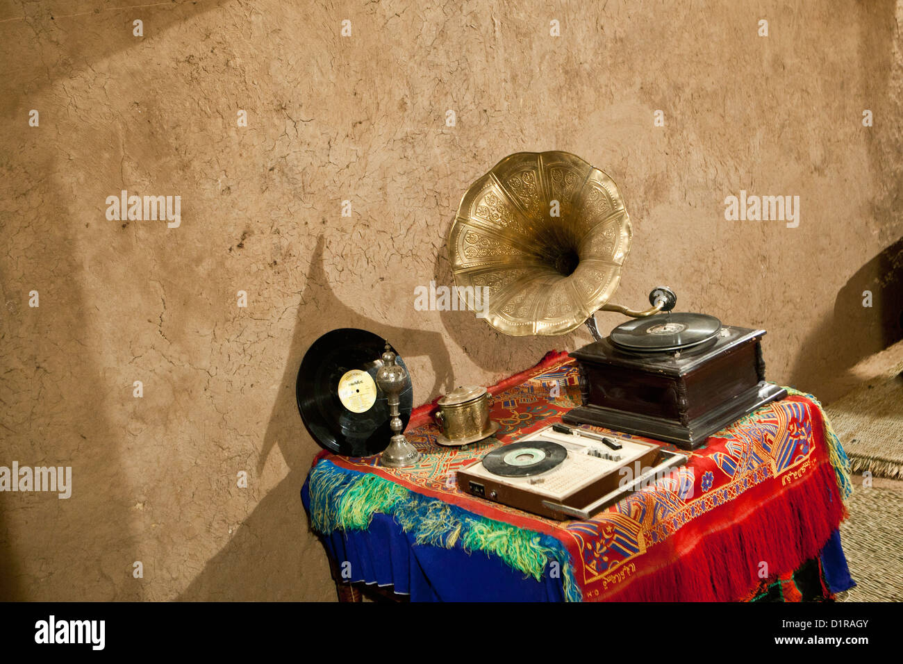 Morocco, near Zagora, kasbah Ziwane. Museum of Arts and Traditions from Draa Valley. - Stock Image