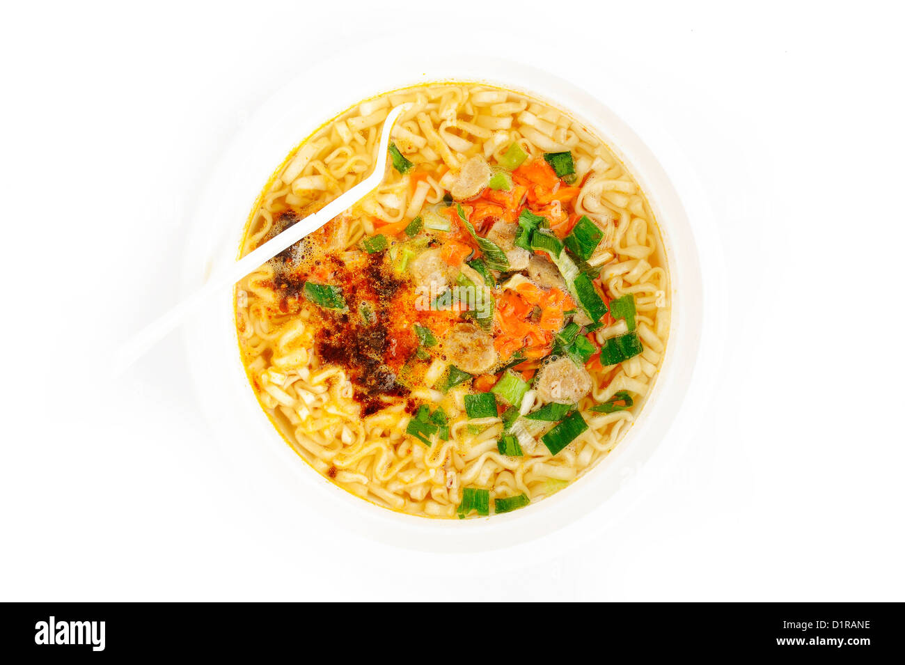 instant noodles in cup - Stock Image