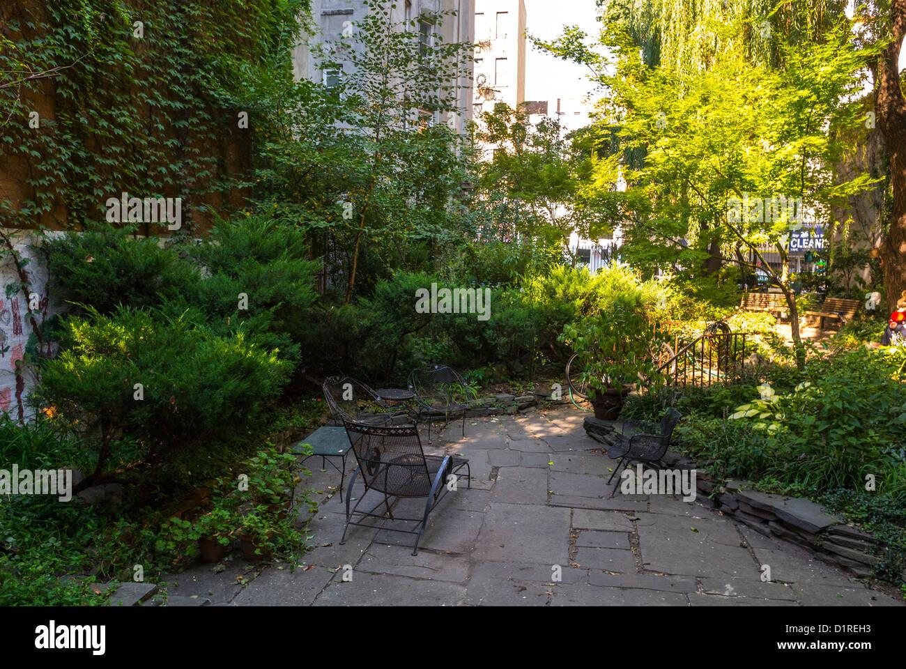 New York, NY, USA,  East Village 'Miracle Garden' Community Gardens, Scenes, Local neighbourhoods - Stock Image