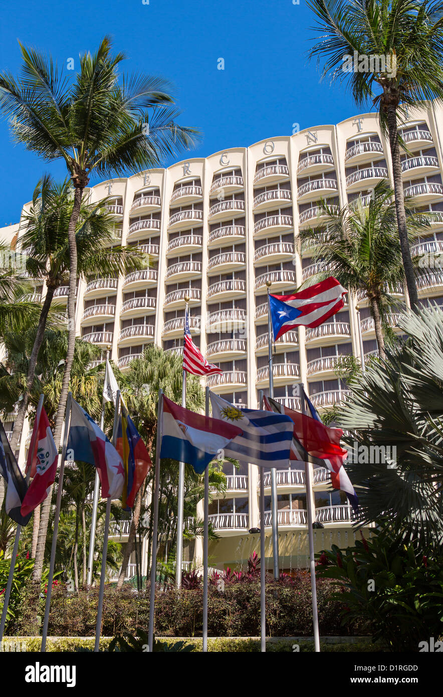 SAN JUAN, PUERTO RICO - The InterContinental Hotel, a beach resort at Isla Verde. - Stock Image