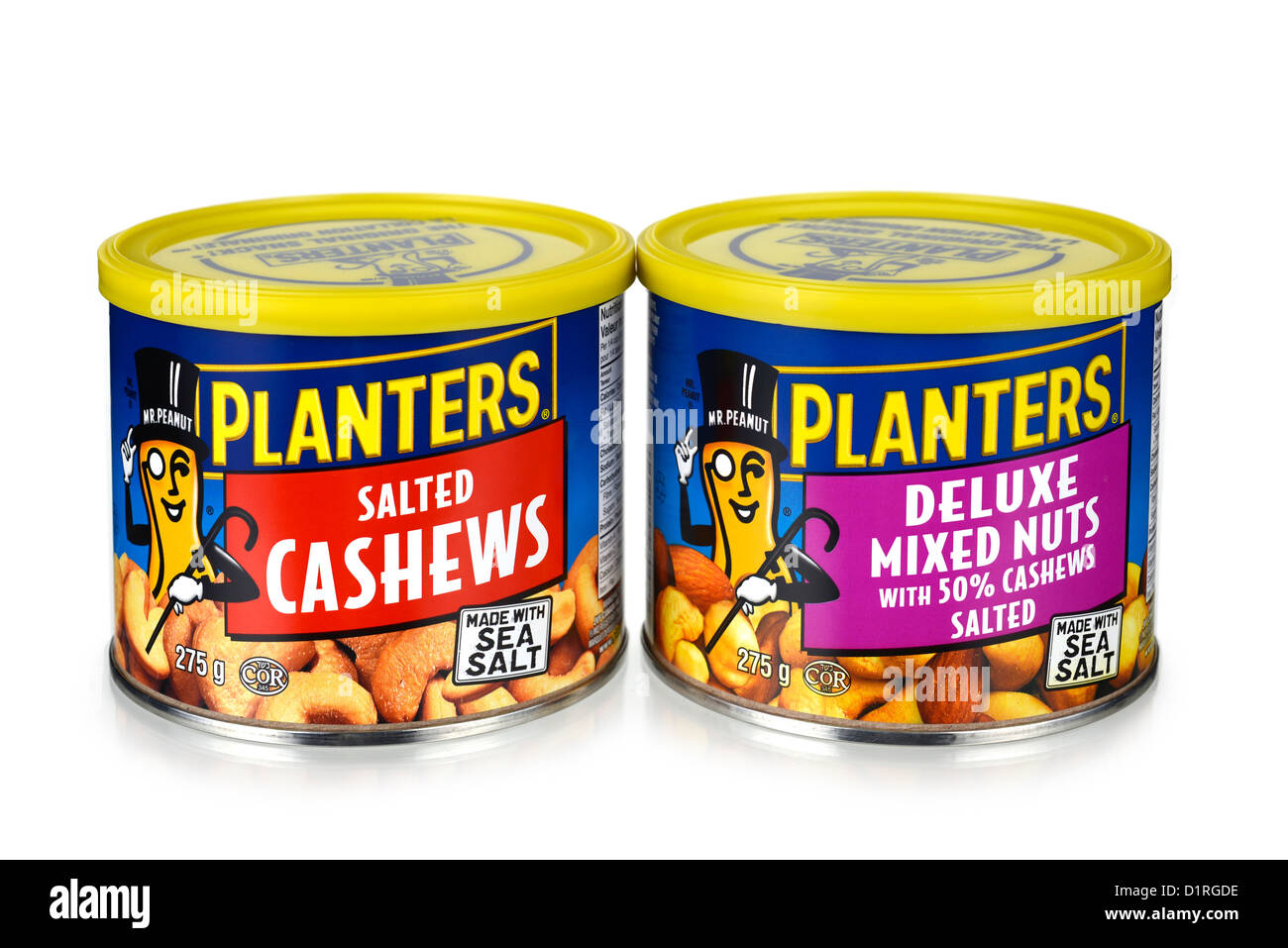 Mixed Nuts, Tins - Stock Image