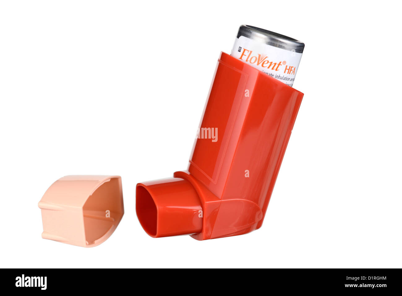 Asthma Inhaler, Inhalers, Bronchodilators Bronchodilator For Allergy, Ventolin, Flovent Salbutamol - Stock Image