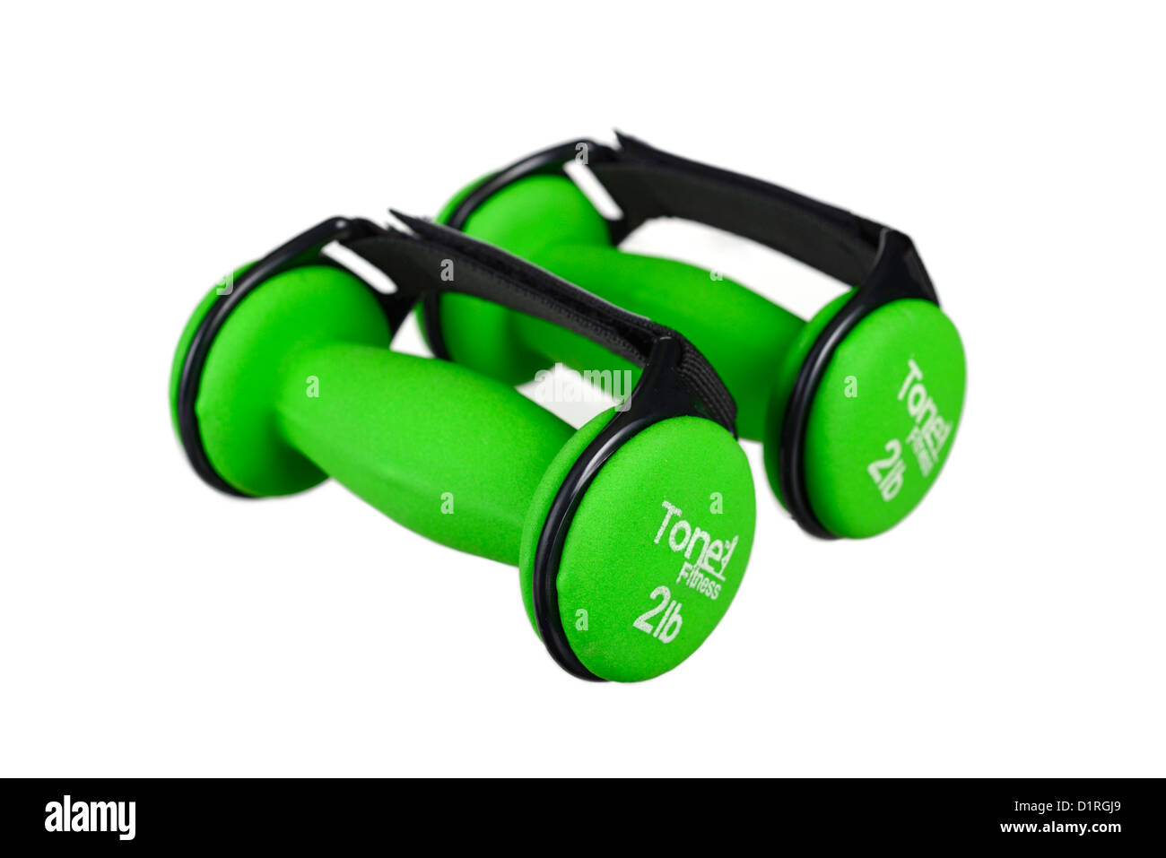 Dumbbells, tone fitness, walking fitness dumbbells with adjustable straps - Stock Image