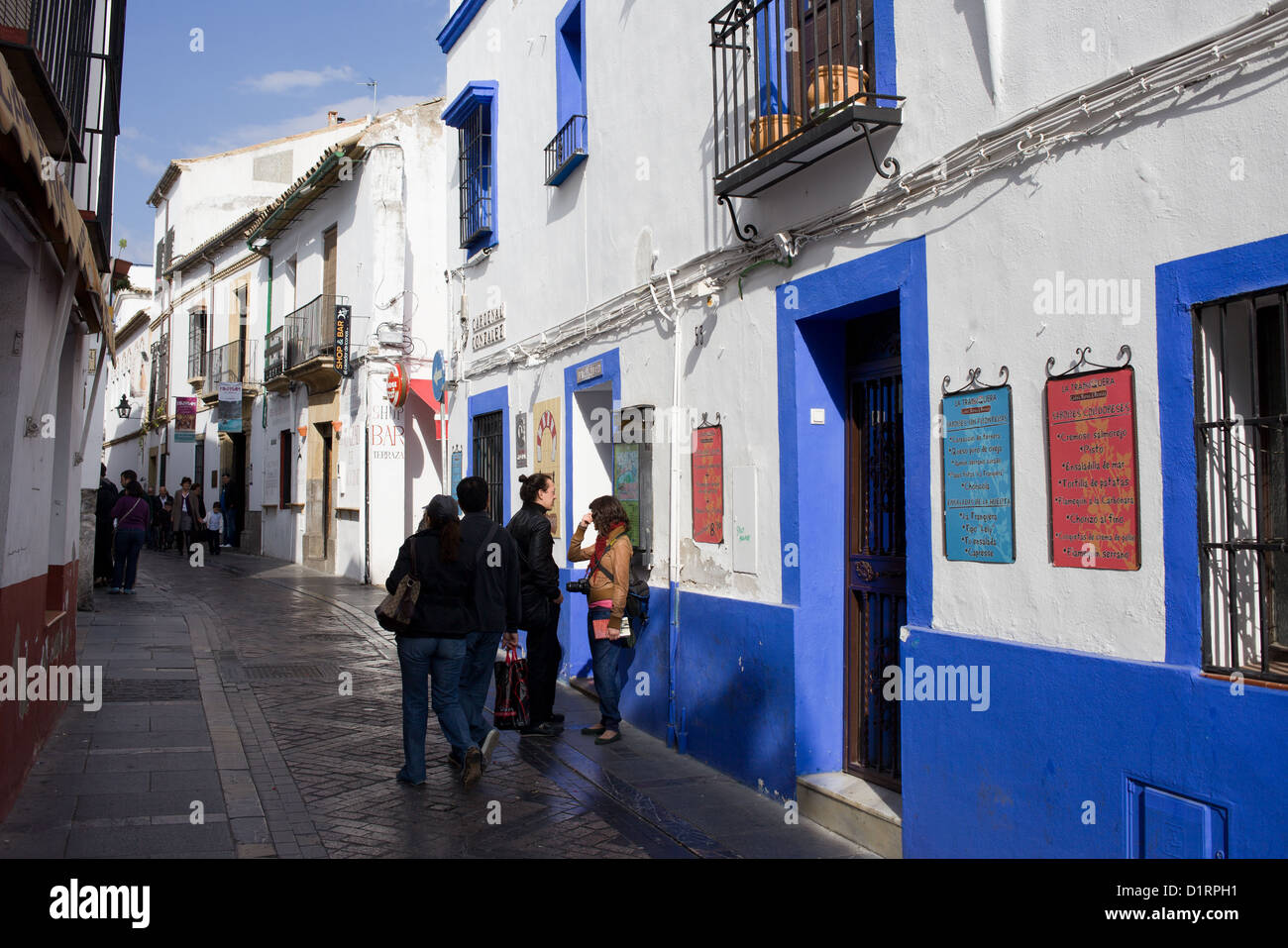Cardenal Gonzales street in the Old Town of Cordoba city in Spain, Andalusia region. - Stock Image