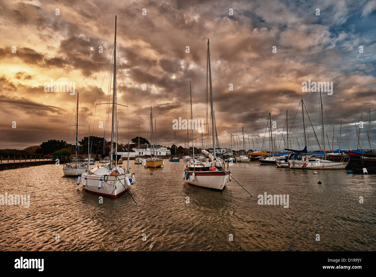 Hill Head harbour - Stock Image
