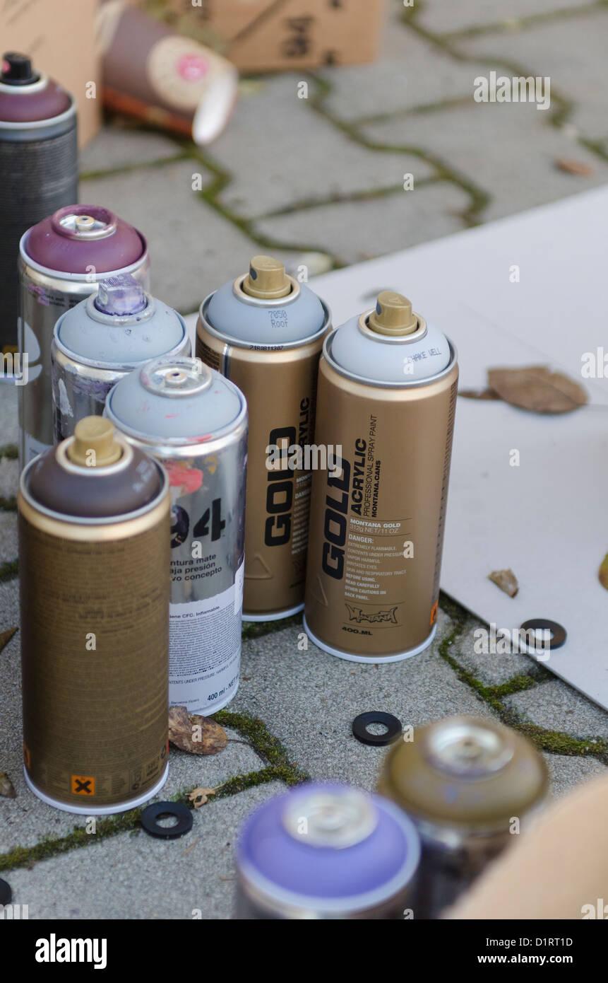 Bombe 94 Montana intérieur spray kunst stock photos & spray kunst stock images - alamy